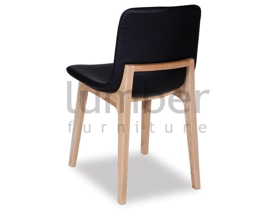 Matisse Chair Solid Ash Frame – Black Upholstered Padded Seat