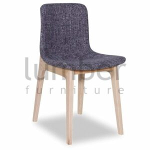 Matisse Chair Solid Ash Frame - Light Grey Padded Tweed Seat