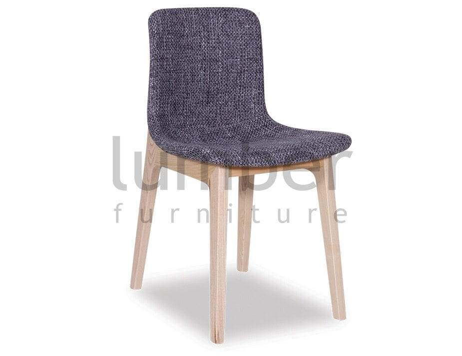Matisse Chair Solid Ash Frame – Light Grey Padded Tweed Seat