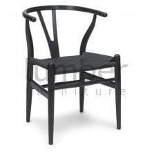 REPLICA HANS WEGNER WISHBONE CHAIR BLACK