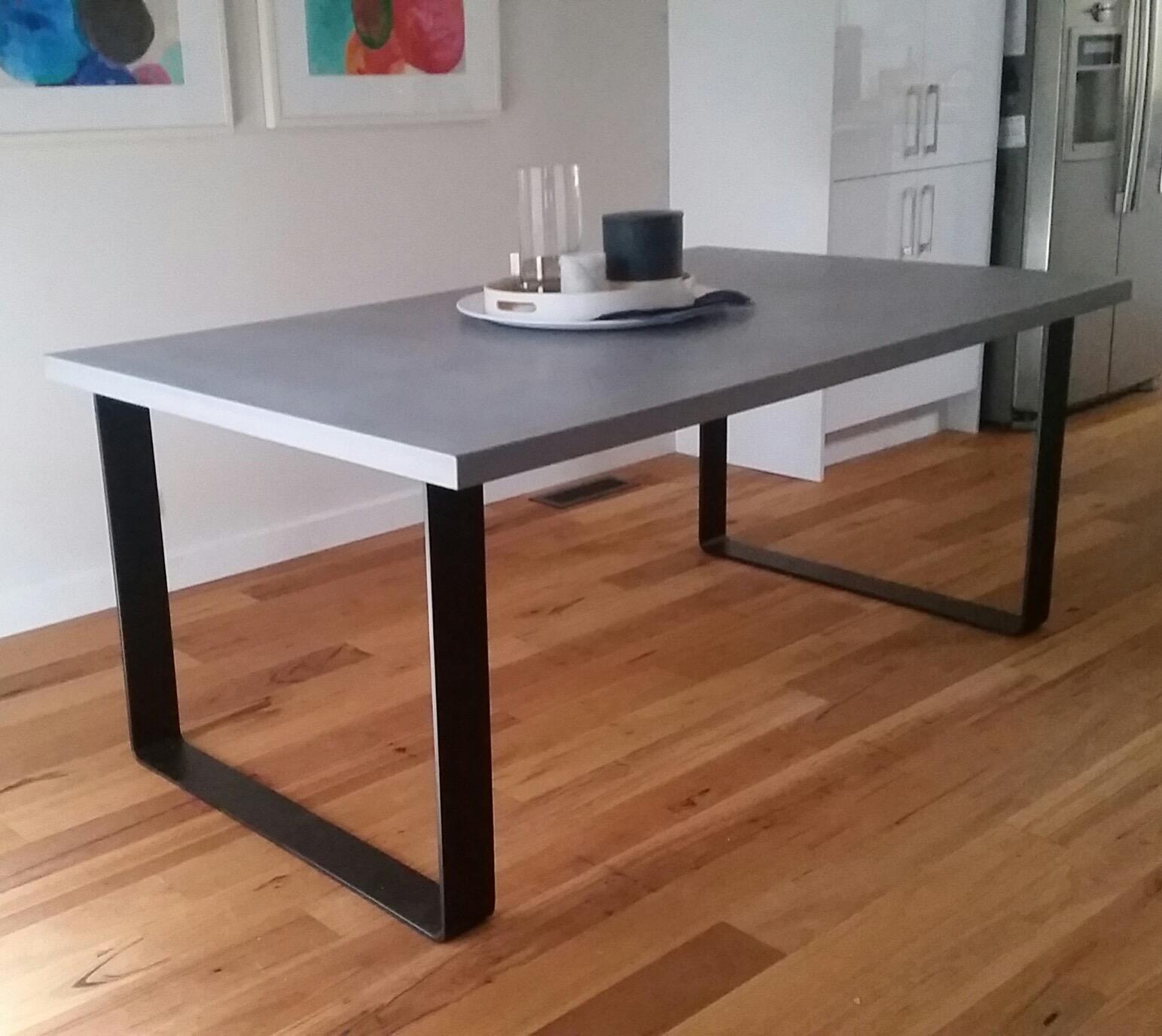 king concrete dining table lumber furniture