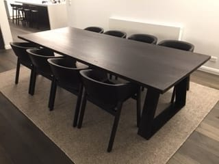 Dining Table American Oak Stained Black